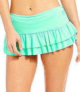 Daniel Cremieux Solid Ruffle Hem Skirt