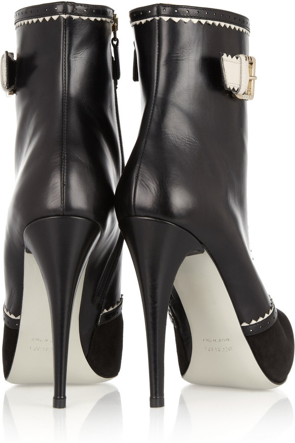 Jason Wu Alexis leather and suede lace-up boots