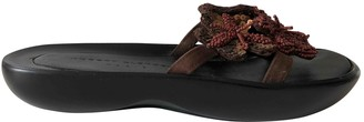 Clergerie Brown Rubber Sandals