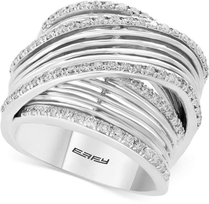 Effy Diamond Multi-Row Overlap Ring (3/4 ct. t.w.) in 14k White Gold