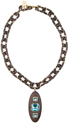 Prada Aquamarine-Embellished Necklace