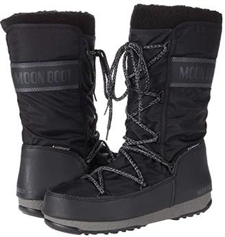 Moon Boot r) Monaco Wool WP (Black) Women's Boots