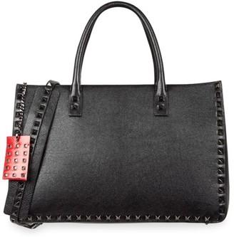 Valentino Medium Rockstud Leather Tote