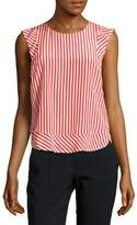 Sandro Sleeveless Striped Silk Top