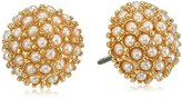 "lonna & lilly Classics"" Gold-Tone/Pearl Stud Earrings"