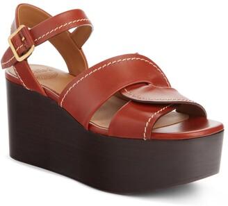 Chloé Candice Wedge Platform Sandal