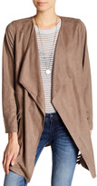 Miss Me Faux Suede Shawl Collar Jacket