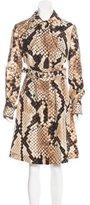 Roberto Cavalli Printed Collared Coat