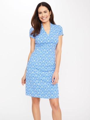 J.Mclaughlin Ivana Cap Sleeve Dress in Deco Shell