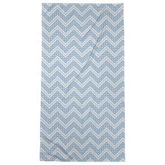 ArtVerse Rhonda Cheval Reverse Classic Hand Drawn Chevrons Bath Towel - Poly/Cotton