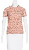 Mulberry Embroidered Short Sleeve Top