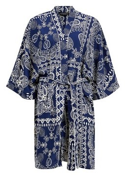 Dorothy Perkins Womens **Blue Scarf Print Kimono Jacket, Blue