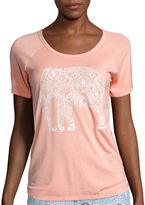 Asstd National Brand Black Butterfly Short-Sleeve Print Sleep Tee