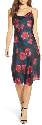 Paige Giovanna Floral Satin Midi Slip Dress