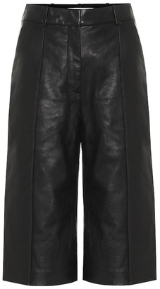 Veronica Beard Arnold high-rise leather culottes