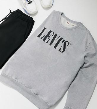 Levi's Big & Tall serif print sweatshirt in grey