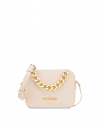 Love Moschino Shoulder Bag Hearts Chain Woman White Size U It - (one Size Us)