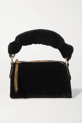 Dries Van Noten Pillow Mini Velvet Tote - Black