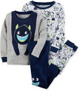 Carter's 4-Pc. Monster Glow-In-The-Dark Cotton Pajama Set, Baby Boys (0-24 months)
