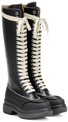 MM6 MAISON MARGIELA Lace-up leather knee-high boots