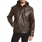 Excelled Leather EXCELLED HOODED FAUX LEATHER JACKET