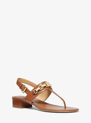 Michael Kors Charlton Leather Block-Heel Sandal