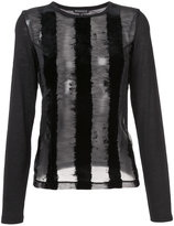 Ann Demeulemeester sheer long sleeve top