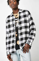 Obey Trent Plaid Flannel Long Sleeve Button Up Shirt