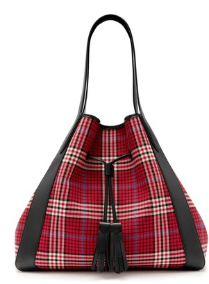 Mulberry Millie Tote Scarlet Tartan Check Canvas