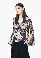 Mango Outlet Flowy Printed Blouse