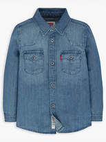 Levi's Toddler Boys 2T-4T Barstow Western Shirt Chambray 4T
