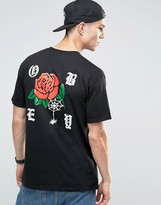 Obey T-shirt With Rose Back Print
