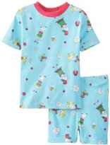 New Jammies Little Girls' Flower Organic Short Pajama