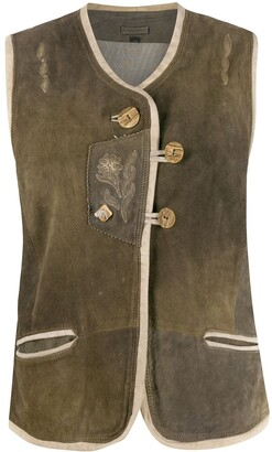 A.N.G.E.L.O. Vintage Cult 1980s Flower Embroidery Gilet
