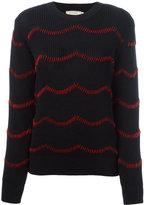 MAISON KITSUNÉ hand embroidered jumper