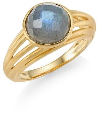 Dean Davidson Savannah Labradorite & 22K Goldplated Ring