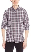 Kenneth Cole New York Kenneth Cole Men's Long Sleeve Button Down Plaid 1 Pocket Shirt