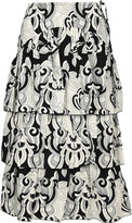 See by Chloe Graphic Print Midi Skirt