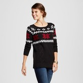 Heather B Women's Snowflake Fairisle Fisherman Sweater