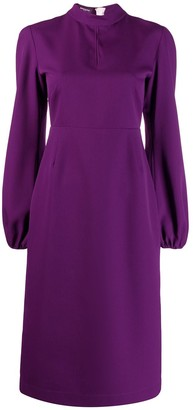 Rochas Bishop Sleeve Midi Dress
