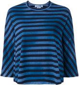 Comme des Garcons striped flared T-shirt - women - Cotton - M
