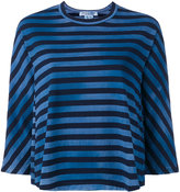 Comme des Garcons striped flared T-shirt - women - Cotton - S