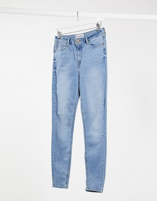 New Look lift & shape skinny jeans in light blue