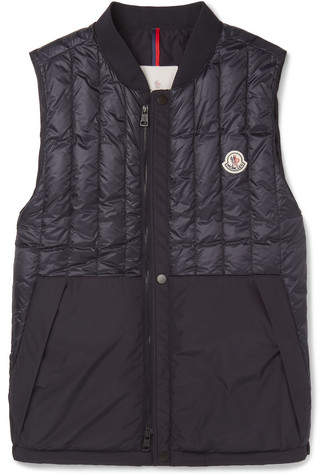 Moncler Doubs Slim-Fit Quilted Shell Down Gilet