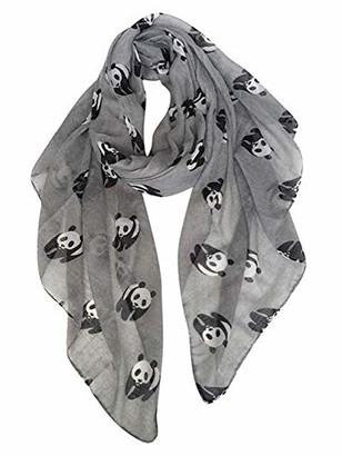 "Ladies Women""s Panda Print Scarf Wraps Shawl Soft Scarves By London Scarfs (Pink)"