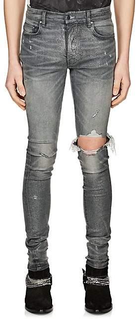 Amiri Men's Broken Glitter Jeans - Gray