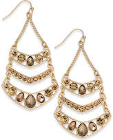 Thalia Sodi Gold-Tone Yellow Crystal Chandelier Earrings, Created for Macy's