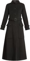 Joseph Aster A-line brushed-fleece coat