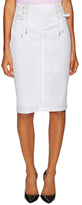 Love Moschino Cotton Optical Lace Tie Pencil Skirt