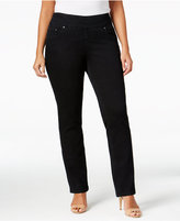 Jag Plus Size Peri Pull-On Straight-Leg Jeans